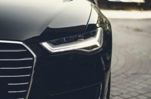 Black Car Front Headlight