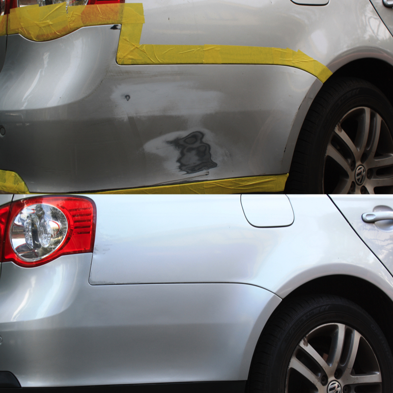 Before and After Car Repair