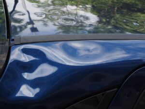 Car with dents and body damage